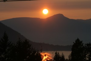 Sunset over Howe Sound, West Vancouver, B.C.